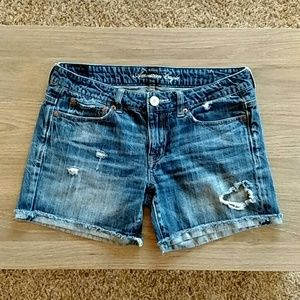 American Eagle Distressed Torn Jean Shorts